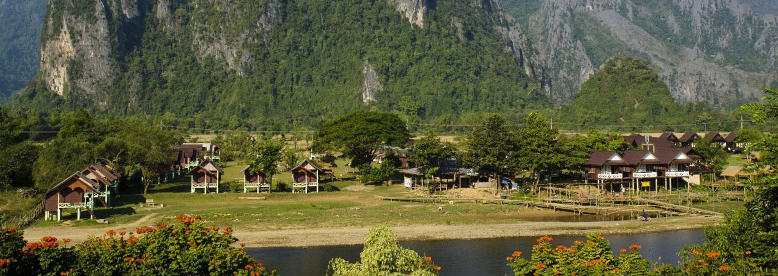 Tour In Laos  Days Vang Vieng Luang Prabang Vientiane