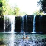 Campe Warterfall pakse laos