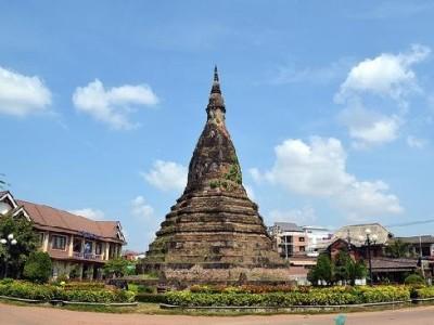 laos that dam black stupa
