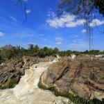 Liphi waterfall in Khong Island Laos