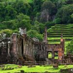 Wat Phu temple in pakse